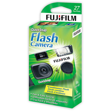 Fujifilm QuickSnap Flash 400 35mm One-Time-Use Camera - 27 Exposures (ASA 400)