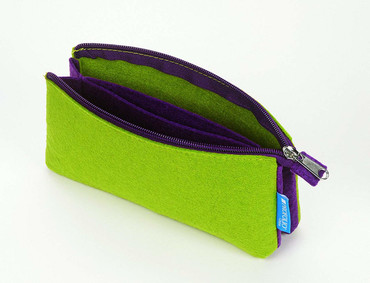 "Itoya Profolio Midtown Pouch, Green and Purple(4""x7"")"
