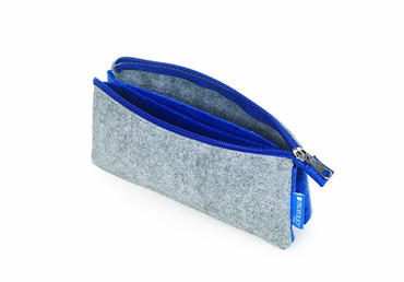 "Itoya Profolio Midtown Pouch, Gray and Blue(4""x7')"