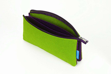 "Itoya Profolio Midtown Pouch, Green and Purple(5""x9"")"