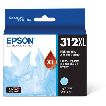 Epson T312XL Light Cyan Claria Photo HD Ink Cartridge with Sensormatic