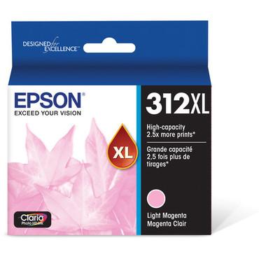 Epson T312XL Light Magenta Claria Photo HD Ink Cartridge with Sensormatic