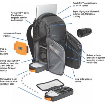 Lowepro FreeLine BP 350 AW Backpack (Black)