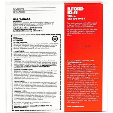 Ilford ID-11 Film Developer (Powder) for Black & White Film - Makes 1 Liter