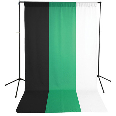 Savage Economy Background Support Stand with White, Black and Chroma Green Backdrops