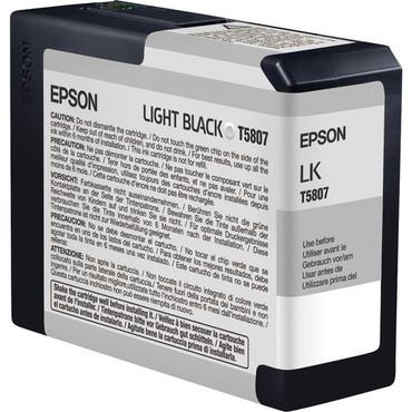 Epson UltraChrome K3 Ink For 3800 & 3880 - Light Black (80 ml)