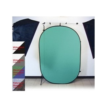 Promaster 6x7 Pop Up 2 Sided Background - White/Grey