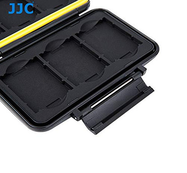 Rugged Water-Resistant Storage Memory Card Case Protector for 6 XQD Cards