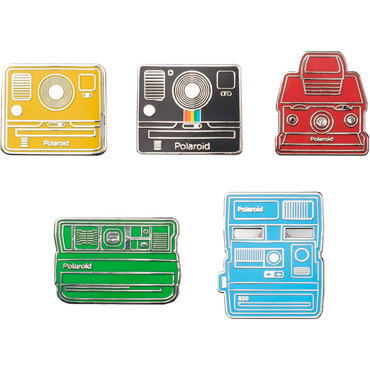 Polaroid Collector's Camera Pin Badge Kit