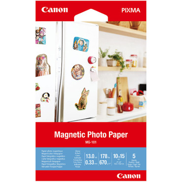 """Canon MG-101 Magnetic Photo Paper (4 x 6"""", 5 Sheets)"""