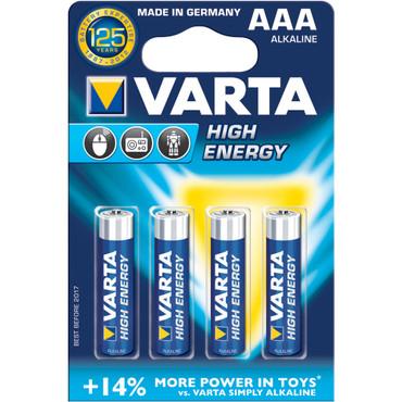 Varta AAA 1.5V Alkaline Batteries (4-Pack)