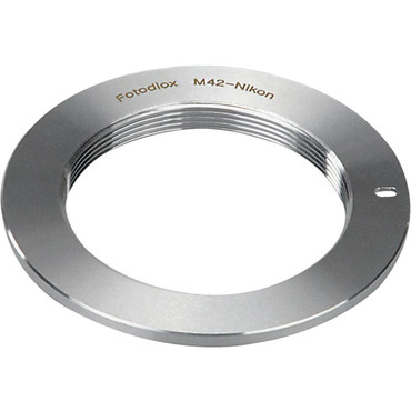 FotodioX Mount Adapter for M42 Type 1 INCH  Lens to All Nikon F-Mount Camera