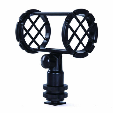 Movo SMM1 Camera Shoe Shockmount for Shotgun Microphones 19-25mm in Diameter (Including Rode NTG-1, NTG-2, Sennheiser MKE-600)