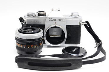 Pre-Owned - Canon FTb film camera with 50mm f/1.8