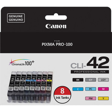 CLI-42 Eight-Color Ink Tank Pack For the PIXMA PRO-100