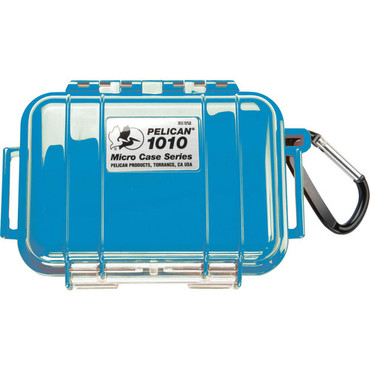 Pelican 1010 Micro Case (Solid Blue with Black Lining)