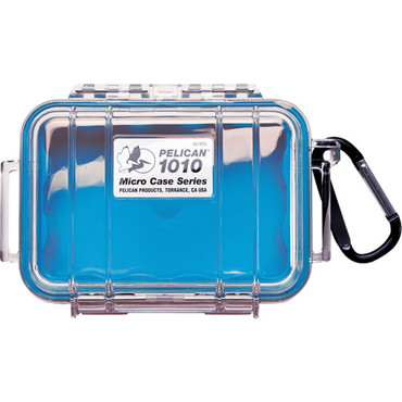 1010 Micro Case (Clear Blue With Colored Lining)