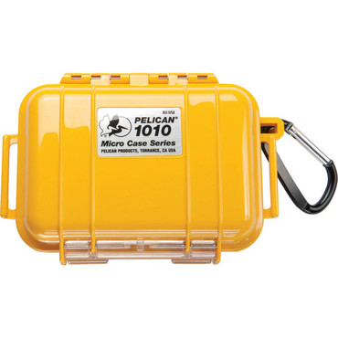 Pelican 1010 Micro Case (Solid Yellow with Black Lining) B&H # PE1010MCSY MFR # 1010-025-240