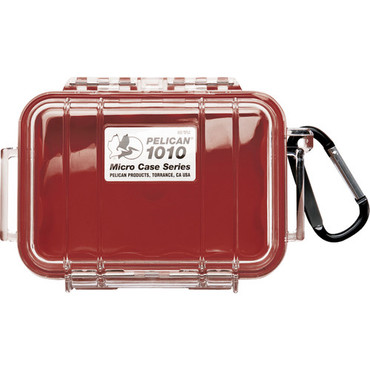 1010 Micro Case (Clear Red With Colored Lining)