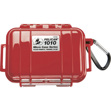 Pelican 1010 Micro Case (Solid Red with Black Lining)