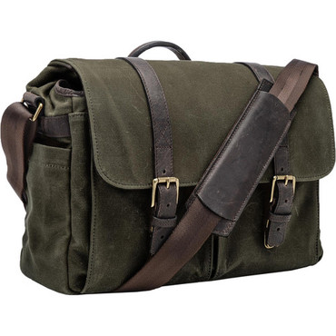 ONA Brixton Camera/Laptop Messenger Bag (Canvas, Olive)