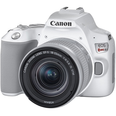 Canon EOS SL3 DSLR Camera with 18-55mm Lens (White)