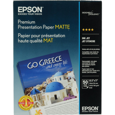 "Matte Paper Heavyweight 8.5X11"" 50 Sheets"