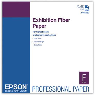 """Epson Exhibition Fiber Paper  (17 X 22"""", C , 25 Sheets)"""