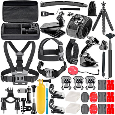 FlyPro 50 in 1 Go Pro Accessory Pack (Hero 5,6,7) (Action Cam)