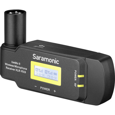 Saramonic RX-XLR9 Dual-Channel Wireless Plug-In Receiver for UwMic9 System (514 to 596 MHz)