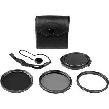Bower 62mm Digital Filter Kit 5 piece, UV, CPL and ND Filter