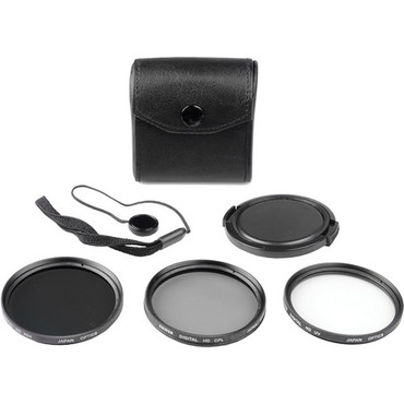 Bower 52mm Digital Filter Kit 5 piece, UV, CPL and ND Filter