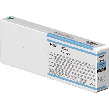 Epson T804500 UltraChrome HD Light Cyan Ink Cartridge (700ml) For SureColor P9000, P8000, P7000, and P6000