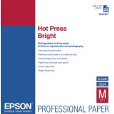 "Hot Press Bright Epson 13""X19"" 25Sh"