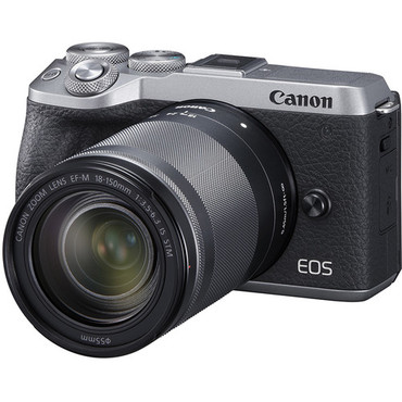 Canon EOS M6 Mark II Mirrorless Digital Camera with 18-150mm Lens and EVF-DC2 Viewfinder (Silver)