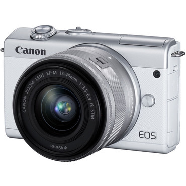 Canon EOS M200 Mirrorless Digital Camera with 15-45mm Lens (White) (ACE61026)