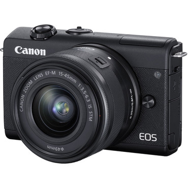 Canon EOS M200 Mirrorless Digital Camera with 15-45mm Lens (Black) (ACE61025)