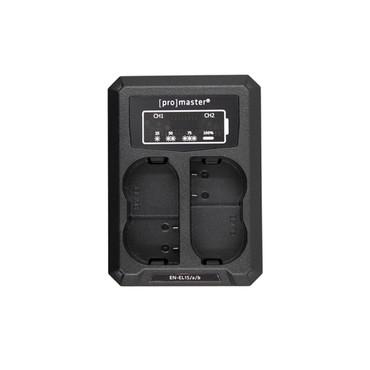 Promaster Dually Charger - USB for Nikon EN-EL15, EN-EL15a, EN-EL15b