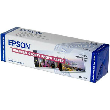 "Premium Glossy Photo Paper For Inkjet 13"" X 32.8'"