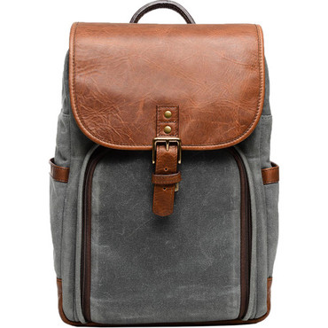 ONA Monterey Backpack (Smoke and Antique Cognac)