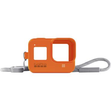 GoPro Silicone Sleeve and Adjustable Lanyard Kit for GoPro HERO8 (Hyper Orange)