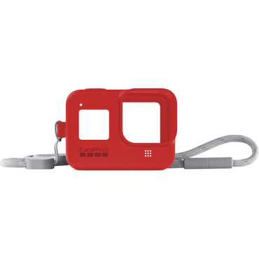 GoPro Silicone Sleeve and Adjustable Lanyard Kit for GoPro HERO8 (Firecracker Red)