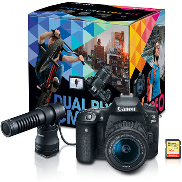 Canon EOS 90D DSLR Camera w/ 18-55mm Video Creator Kit