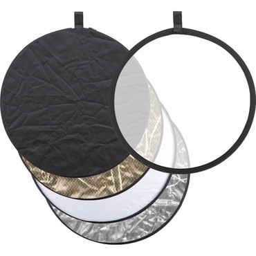 """Godox Collapsible 5-In-1 Reflector Disc (24"""", Black/Silver/Soft Gold & Silver/White/Translucent)"""