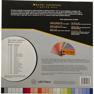 """LEE Filters Master Location Filter Pack - 36 Sheets (10 x 12"""")"""