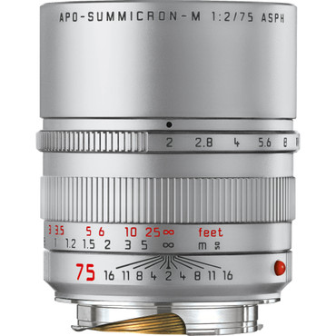 Leica APO-Summicron-M 75mm f/2 ASPH. Lens (Silver Anodized)