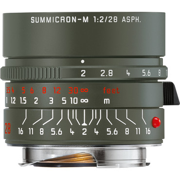 Leica Summicron-M 28mm f/2 ASPH. Edition 'Safari' Lens