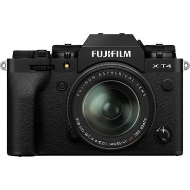 X-T4 Mirrorless Digital Camera with 18-55mm Kit, Black