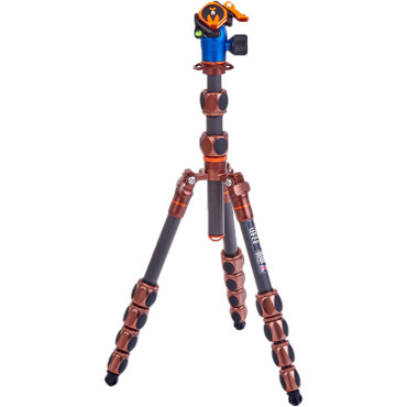 3 Legged Thing Leo 2.0 Tripod Kit with AirHed Pro Lever Ball Head (Bronze and Blue)