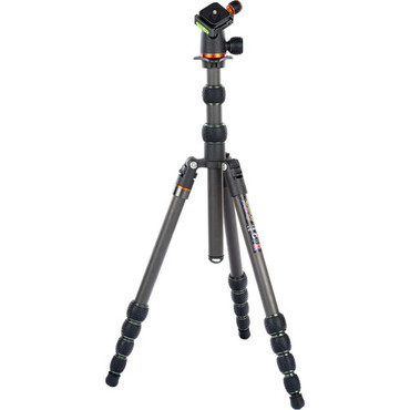 3 Legged Thing Punks Brian Travel Tripod with Airhed Neo Ball Head (Carbon Fiber, Black/Gray)